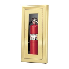Brass/Bronze Door Cabinets for up to 5 Lbs ABC Fire Extinguisher