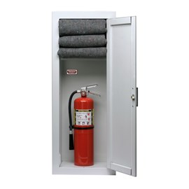 36 x 12 Inch Fire Blanket and Extinguisher Cabinet  - Steel Door and Frame, Surface Mount