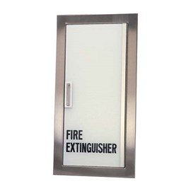 Frameless Acrylic Door Cabinets for up to 20 Lbs ABC Fire Extinguisher [27 H x 12 W inches]