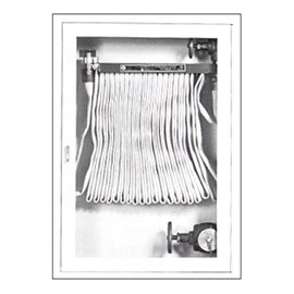 Cabinet for Rack with 75 Ft Fire Hose and Separate 2.5 Inch Valve [38 H x 24 W inches]