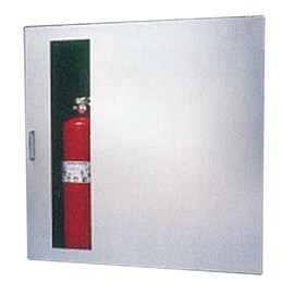 Occult Cabinet for Rack with 100 Ft Fire Hose and Extinguisher [32 H x 32 W inches]