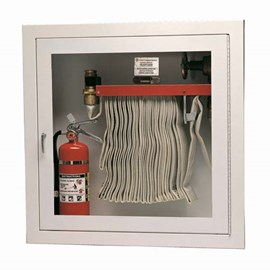 Cabinet for Rack with 100 Ft Fire Hose and Extinguisher [32 H x 32 W inches]