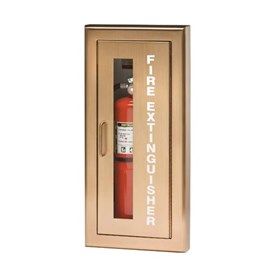 Brass/Bronze Door Cabinets for up to 20 Lbs ABC Fire Extinguisher